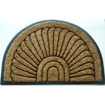 Geo Crafts G237 Sundance 24 by 36-Inch Coco Rubber Doormat, Beige