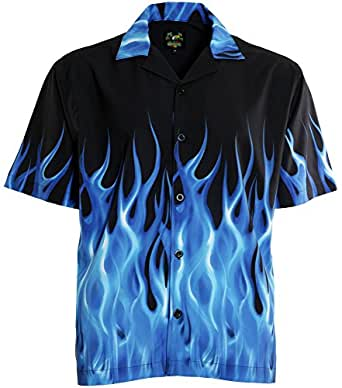 benny s blue flames bowling shirt at amazon men s clothing store