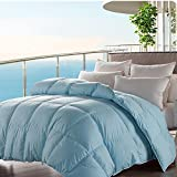 Baffle Box Designed Goose Down Comforter Queen Size 100% Cotton Shell Down...