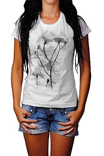 Blumen X T-Shirt Frauen, Mädchen mit stylischen Motiv von Paul Sinus
