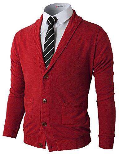 H2H-Mens-Slim-Fit-Soft-Shawl-Collar-Cardigan-Sweater-with-Ribbing-Edge