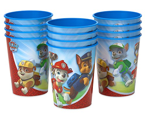 Nickelodeon American Greetings PAW Patrol Plastic Party Cups (12 Count), 16 oz - 3rd Birthday Bag