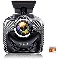 MERRiLL Dash Cam WiFi Mini Car Camera 1.5 LCD Super HD 1296p 170° Wide Angle with G-Sensor, WDR, Loop Recording, black mesh color
