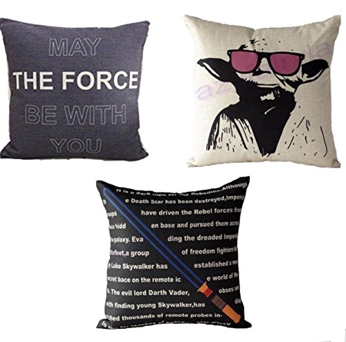 (Set of 3) Star Wars Pillowcase Covers Decorative 100% Cotton