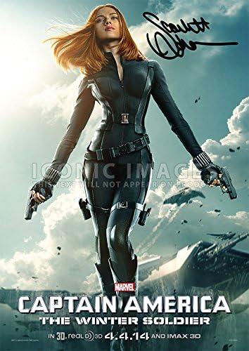 Amazon Com Large Black Widow Scarlett Johansson Captain America