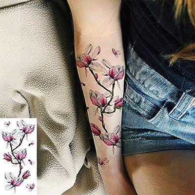 adgkitb 4 Piezas Impermeable Tatuaje Temporal Pegatina Hermosa ...
