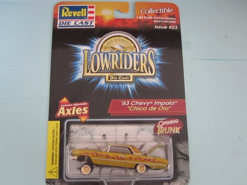 - 63 Chevy Impala Chica De Oro Lowrider Die-cast By Revell--1/64 Scale