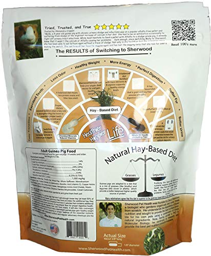 Product image of Sherwood Pet Health Guinea Pig Food, Adult, 4.5 lb. Timothy Blend (Grain & Soy-Free) - 4.5 lb. (Vet Used)