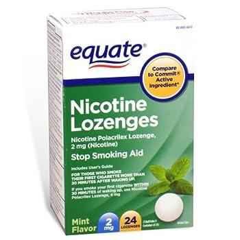 Equate - Nicotine Lozenge 2 mg, Stop Smoking Aid, Mint Flavor, 24 Lozenges
