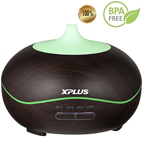 Essential Oil Diffuser,XPLUS 300ml Ultrasonic Aroma Diffuser Cool Mist Humidifier Aromatherapy Diffusers for Office Home Baby Bedroom Living Room Study Yoga Spa