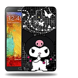 Case88 Designs My Melody & Kuromi Collection 0651 Protective Snap-on Hard Back Case Cover for Samsung Galaxy Note 3