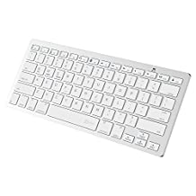 JETech® Bluetooth Wireless Keyboard for iPhone, iPad Pro, iPad Air, iPad Miini, iPad 2/3/4, Galaxy Tab, Mac, Windows, and any bluetooth enabled device (White)