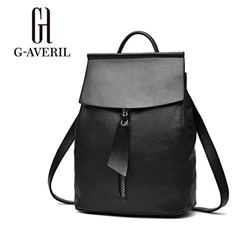 G-AVERIL GA1140-H - Bolso mochila  para mujer Rojo Red negro