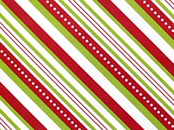 Amazon red lime green candy stripe christmas gift wrap wrapping red lime green candy stripe christmas gift wrap wrapping paper 16ft roll negle Image collections