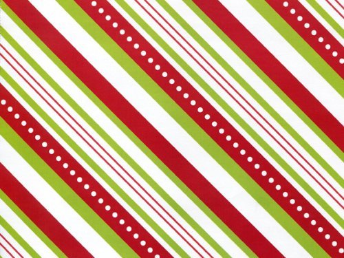 Amazon.com: Red Lime Green CANDY STRIPE Christmas Gift Wrap Wrapping Paper  - 16ft Roll: Health & Personal Care