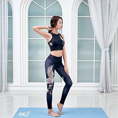 JIALELE Yogahose Fitness Yoga Bekleidung_Sin Hak-Stempel Stretch Sport Yoga Bekleidung Fest Video Thin Schweiß