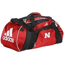 NCAA adidas Nebraska Cornhuskers Scarlet Team Logo Gym Duffel Bag