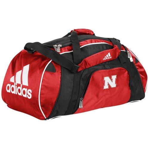Nebraska Cornhuskers Sport Duffle Bag (NCAA adidas Nebraska Cornhuskers Scarlet Team Logo Gym Duffel Bag)
