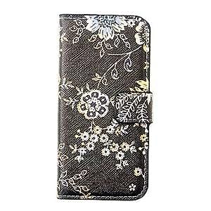 Black Flower Pattern Full Body Case for iPhone 5/5S