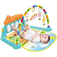 Galaxy Hi-Tech® Latest Baby's Piano Gym Kick and Play Multi-Function ABS High Grade Plastic Piano Baby Gym and Fitness Rack with Hanging Rattles, Music & Light.(up to 2 Year)