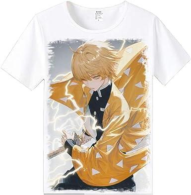 Demon Slayer Imprimir T-Camisa,Anime Leisure Manga Corta ...