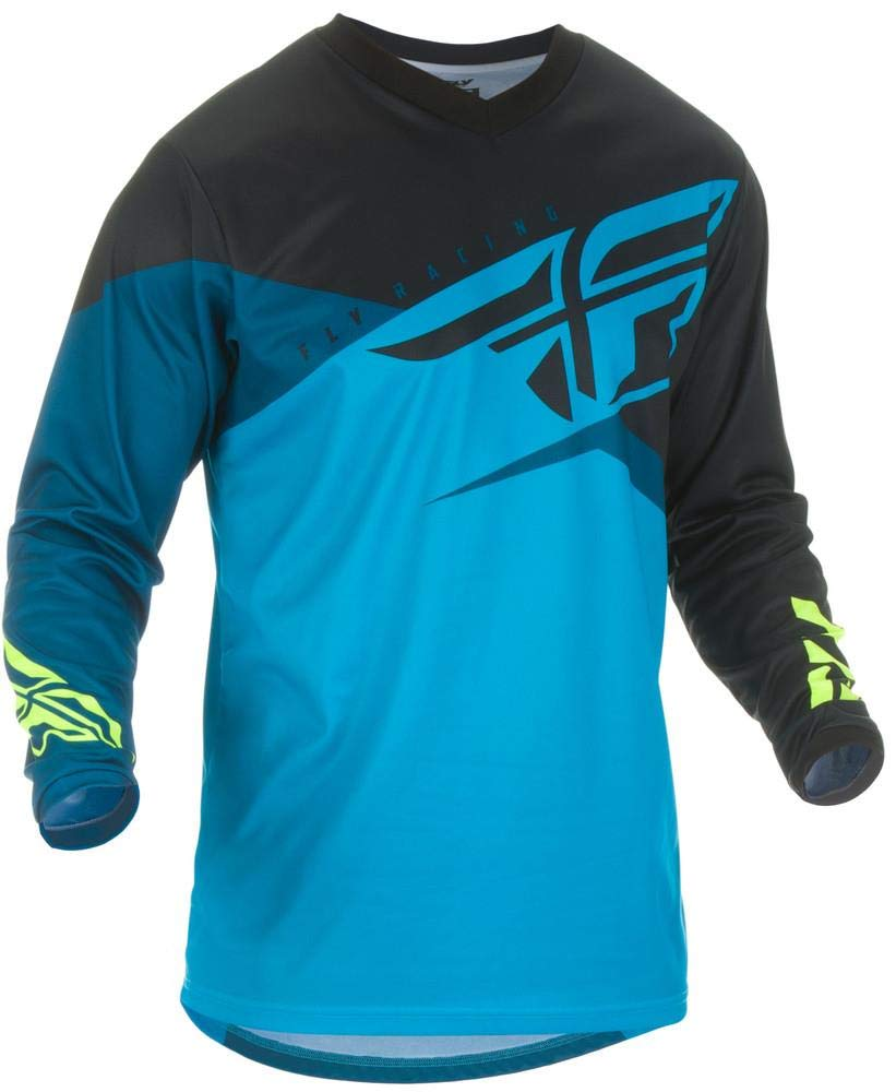Blue//Black//HI-VIZ Fly Racing 2019 F-16 Jersey X-Large