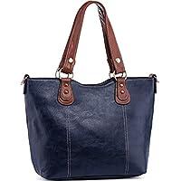 UTake Women's Tote PU Leather Top Handle Shoulder Handbags (Various Colors)