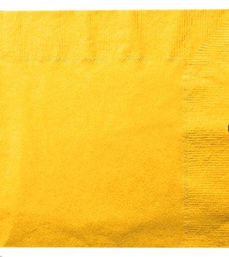 使い捨てナプキンGoldish Yellow 36カウント13インチx 13インチ1パック B07BNXH7HB