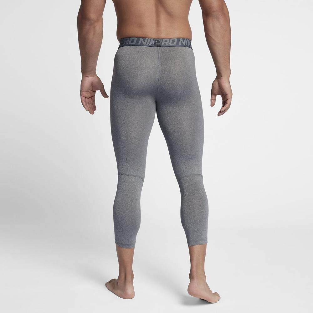 Nike Men's Pro 3qt Tight (Carbon Heather/Dark Grey/Black, Small) by Nike (Image #6)