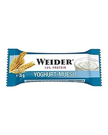 Weider Barrita Energética Yogurt y Müsli - 6 Paquetes de 35 gr - Total: 210