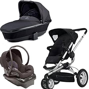 Quinny 2011 Buzz Stroller With Dreami Bassinet And Mico Carseat Set In Black