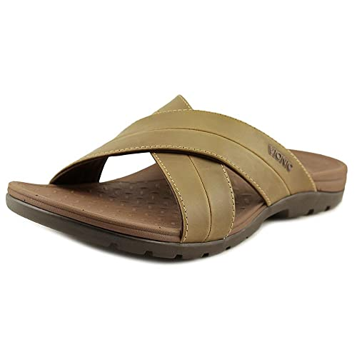 77fbb808adae Vionic Holbrook - Mens Leather Slide Sandals Brown - 7