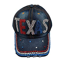 Bling Baseball Cap Embellished with Crystal Rhinestones