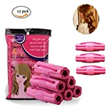 Foam Hair Curlers 12 Pack Silicon Sleep Hair Rollers Fashionable Foam Sponge Hair Curlers Clip Magic Hair Care Roller No Clip Soft Easy Application Hair Styling Tools For Lazy People (12 PACK)