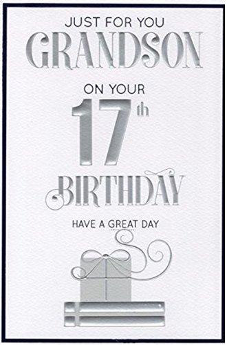 Special Grandson 17th Birthday Card Amazon Kitchen Home