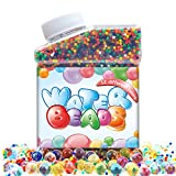 Water Beads Pack 12 Color Rainbow Mix Soft Crystal Orbeez, for Kids Tactile Sensory Toy, Vases, Plants & Home Decoration, Jelly Growing Pearl Balls, Great for Wedding, Party, Pool, Guns