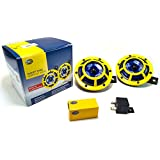 Hella H31000001 114dB 12V Universal Sharptone Panther Dual Horn Kit (Yellow)