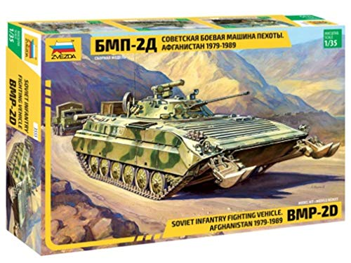 120mm Model Hobby - ZVEZDA 3555 - Soviet Infantry Fighting Vehicle BMP-2D (Afghanistan 1979-1989) 120 mm M-30 - Plastic Model Kit Scale 1/35 373 Parts Lenght 10