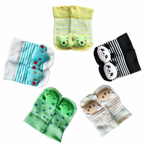 Gemini Fairy Cute Animal Cartoon Toddler Unisex-Baby Variety Socks Shower Gift Set