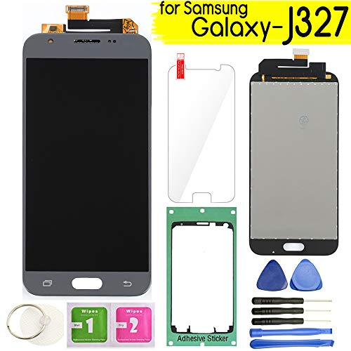 - Samsung Galaxy J327 LCD Display Screen Replacement Touch Digitizer Assembly for J3 2017 Prime/Emerge J327 J327A J327V J327P J327T1 J327R4 with Repair Tools & Screen Protector (Gray)