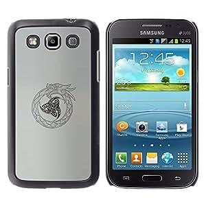 FlareStar Colour Printing Tribal Viking Oroboros Snake Dragon cáscara Funda Case Caso de plástico para Samsung Galaxy Win / i8550 / i8552 / Grand Quattro