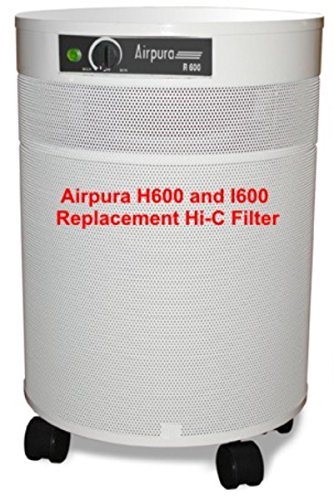 - Airpura Industries RepHiCFilter Replacement Carbon Weave Filter and Frame For H600 I600 Air Purifiers