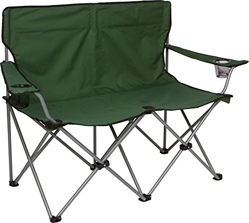 Trademark Innovations 31 5 H Loveseat Style Double Camp Chair With Steel Frame Camping