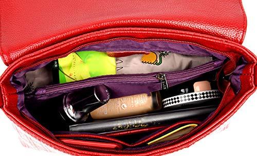 mano hombro bandolera Shoppers Mujer bolsos Carteras de y Fekete de DEERWORD clutches Bolsos y vZHwSq