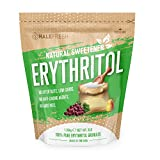 Erythritol Sweetener Natural Sugar Substitute - Granulated Low Calorie Sweetener High Digestive Tolerance Suitable for Diabetes Keto and Paleo - Perfect Baking Substitute Non GMO 3lb