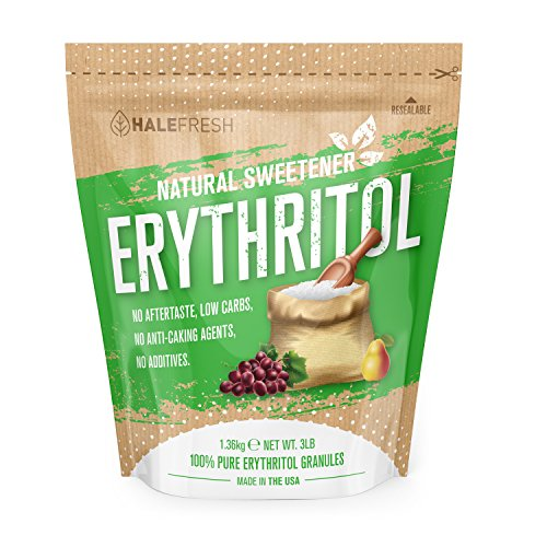 Erythritol Sweetener Natural Sugar Substitute - Granulated Low Calorie Sweetener High Digestive Tolerance Suitable for Diabetes Keto and Paleo - Perfect Baking Substitute Non GMO 3lb Sugar Sweetener
