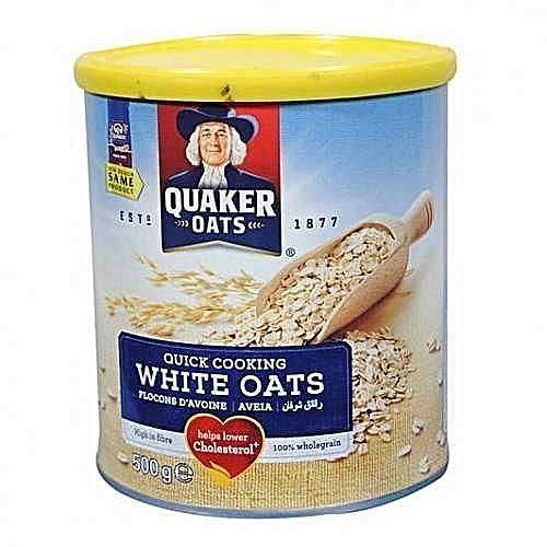 jai jinendra Quaker Tin of White Oats (500 g)