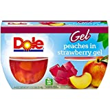 #8: Dole Fruit Bowls, Peaches in Strawberry Gel, 4.3 oz, 4 cups