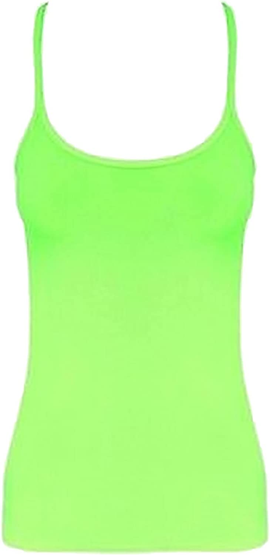 Islander Fashions Girls Plain Microfiber Vest Top Children Sleeveless Strappy Dance Lycra Vest Top 5-12 Years