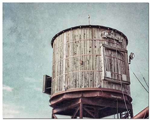 Historic Water Tower (Fort Worth Texas Photography - Historic Stockyards Station Railroad Water Tower - Rustic Home)